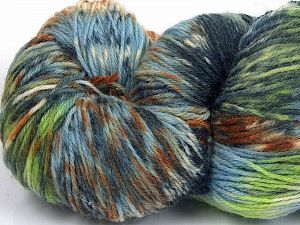 Please note that this is a hand-dyed yarn. Colors in different lots may vary because of the charateristics of the yarn. Also see the package photos for the colorway in full; as skein photos may not show all colors. Fiber Content 75% Super Wash Wool, 25% Polyamide, Brand Ice Yarns, Green Shades, Brown, Blue, Yarn Thickness 1 SuperFine  Sock, Fingering, Baby, fnt2-66024