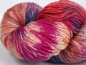 Please note that this is a hand-dyed yarn. Colors in different lots may vary because of the charateristics of the yarn. Also see the package photos for the colorway in full; as skein photos may not show all colors. Fiber Content 75% Super Wash Wool, 25% Polyamide, Salmon Shades, Brand Ice Yarns, Grey Shades, Fuchsia, Yarn Thickness 1 SuperFine  Sock, Fingering, Baby, fnt2-66031