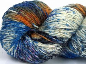 Please note that this is a hand-dyed yarn. Colors in different lots may vary because of the charateristics of the yarn. Also see the package photos for the colorway in full; as skein photos may not show all colors. Fiber Content 75% Super Wash Wool, 25% Polyamide, Orange, Brand Ice Yarns, Fuchsia, Dark Grey, Blue Shades, Yarn Thickness 1 SuperFine  Sock, Fingering, Baby, fnt2-66032
