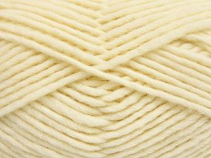 Fiber Content 100% Wool, Brand Ice Yarns, Cream, Yarn Thickness 5 Bulky  Chunky, Craft, Rug, fnt2-66045