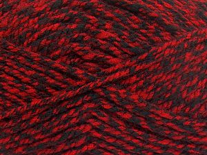 Bulky  Fiber Content 100% Acrylic, Red, Brand Ice Yarns, Black, Yarn Thickness 5 Bulky  Chunky, Craft, Rug, fnt2-66047