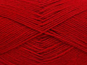Fiber Content 60% Merino Wool, 40% Acrylic, Red, Brand Ice Yarns, Yarn Thickness 2 Fine  Sport, Baby, fnt2-66049