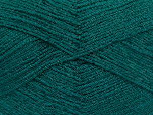 Fiber Content 60% Merino Wool, 40% Acrylic, Brand Ice Yarns, Emerald Green, Yarn Thickness 2 Fine  Sport, Baby, fnt2-66050