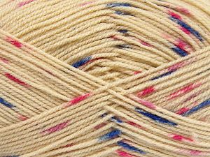 Fiber Content 100% Acrylic, Pink Shades, Khaki, Brand Ice Yarns, Dark Cream, Blue, Yarn Thickness 2 Fine  Sport, Baby, fnt2-66056