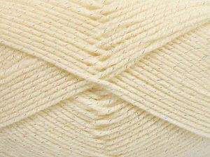 Fiber Content 94% Acrylic, 6% Metallic Lurex, Brand Ice Yarns, Cream, Yarn Thickness 3 Light  DK, Light, Worsted, fnt2-66061