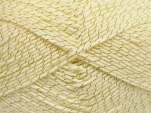 Fiber Content 94% Acrylic, 6% Metallic Lurex, Brand Ice Yarns, Dark Cream, Yarn Thickness 3 Light  DK, Light, Worsted, fnt2-66062