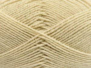 Fiber Content 94% Acrylic, 6% Metallic Lurex, Light Beige, Brand Ice Yarns, Yarn Thickness 3 Light  DK, Light, Worsted, fnt2-66063