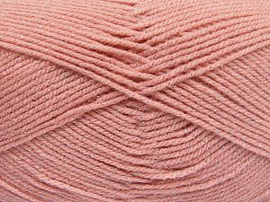 Fiber Content 94% Acrylic, 6% Metallic Lurex, Salmon, Brand Ice Yarns, Yarn Thickness 3 Light  DK, Light, Worsted, fnt2-66065