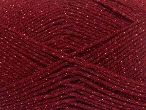 Fiber Content 94% Acrylic, 6% Metallic Lurex, Brand Ice Yarns, Dark Red, Yarn Thickness 3 Light  DK, Light, Worsted, fnt2-66069