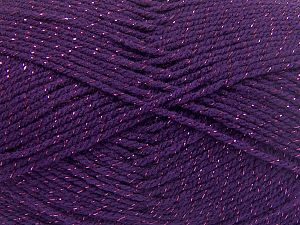 Fiber Content 94% Acrylic, 6% Metallic Lurex, Purple, Brand Ice Yarns, Yarn Thickness 3 Light  DK, Light, Worsted, fnt2-66070