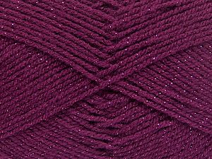 Fiber Content 94% Acrylic, 6% Metallic Lurex, Brand Ice Yarns, Burgundy, Yarn Thickness 3 Light  DK, Light, Worsted, fnt2-66071