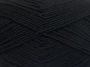 Fiber Content 60% Merino Wool, 40% Acrylic, Brand Ice Yarns, Black, Yarn Thickness 3 Light DK, Light, Worsted, fnt2-66072