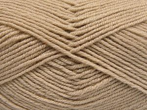 Fiber Content 60% Merino Wool, 40% Acrylic, Brand Ice Yarns, Beige, Yarn Thickness 3 Light  DK, Light, Worsted, fnt2-66075