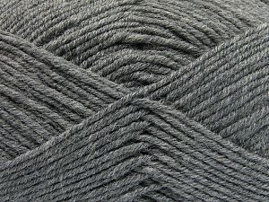 Fiber Content 60% Merino Wool, 40% Acrylic, Brand Ice Yarns, Grey, Yarn Thickness 3 Light  DK, Light, Worsted, fnt2-66079