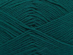 Fiber Content 60% Merino Wool, 40% Acrylic, Brand Ice Yarns, Emerald Green, Yarn Thickness 3 Light  DK, Light, Worsted, fnt2-66083