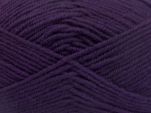 Fiber Content 60% Merino Wool, 40% Acrylic, Purple, Brand Ice Yarns, Yarn Thickness 3 Light  DK, Light, Worsted, fnt2-66086