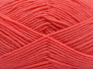 Fiber Content 60% Merino Wool, 40% Acrylic, Salmon, Brand Ice Yarns, Yarn Thickness 3 Light  DK, Light, Worsted, fnt2-66089