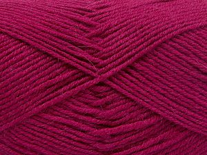Fiber Content 60% Merino Wool, 40% Acrylic, Brand Ice Yarns, Dark Fuchsia, Yarn Thickness 3 Light  DK, Light, Worsted, fnt2-66094