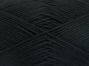 Fiber Content 50% Cotton, 50% Acrylic, Brand Ice Yarns, Black, Yarn Thickness 2 Fine  Sport, Baby, fnt2-66096