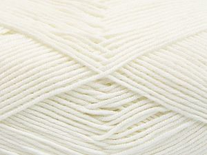 Fiber Content 50% Cotton, 50% Acrylic, White, Brand Ice Yarns, Yarn Thickness 2 Fine  Sport, Baby, fnt2-66097