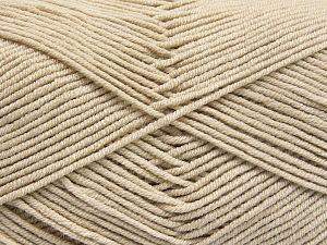Fiber Content 50% Cotton, 50% Acrylic, Light Beige, Brand Ice Yarns, Yarn Thickness 2 Fine  Sport, Baby, fnt2-66100
