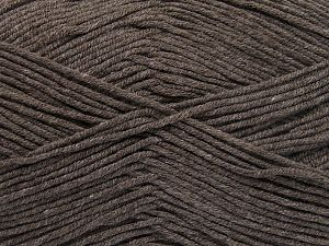 Fiber Content 50% Acrylic, 50% Cotton, Brand Ice Yarns, Dark Camel, Yarn Thickness 2 Fine  Sport, Baby, fnt2-66102