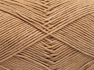 Fiber Content 50% Cotton, 50% Acrylic, Light Camel, Brand Ice Yarns, Yarn Thickness 2 Fine  Sport, Baby, fnt2-66103