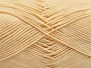 Fiber Content 50% Cotton, 50% Acrylic, Brand Ice Yarns, Dark Cream, Yarn Thickness 2 Fine  Sport, Baby, fnt2-66104