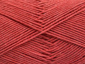 Fiber Content 50% Acrylic, 50% Cotton, Salmon, Brand Ice Yarns, Yarn Thickness 2 Fine  Sport, Baby, fnt2-66108
