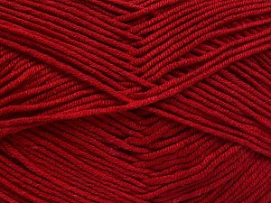 Fiber Content 50% Cotton, 50% Acrylic, Brand Ice Yarns, Dark Red, Yarn Thickness 2 Fine  Sport, Baby, fnt2-66112