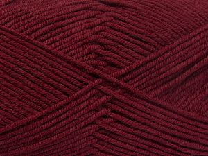 Fiber Content 50% Cotton, 50% Acrylic, Brand Ice Yarns, Burgundy, Yarn Thickness 2 Fine  Sport, Baby, fnt2-66113