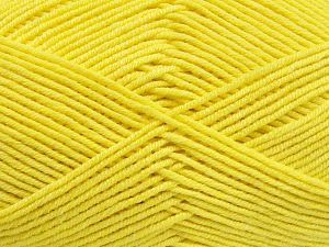 Fiber Content 50% Cotton, 50% Acrylic, Yellow, Brand Ice Yarns, Yarn Thickness 2 Fine  Sport, Baby, fnt2-66116