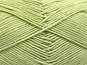 Fiber Content 50% Cotton, 50% Acrylic, Light Green, Brand Ice Yarns, Yarn Thickness 2 Fine  Sport, Baby, fnt2-66118