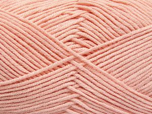 Fiber Content 50% Cotton, 50% Acrylic, Light Pink, Brand Ice Yarns, Yarn Thickness 2 Fine  Sport, Baby, fnt2-66120