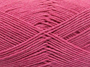 Fiber Content 50% Cotton, 50% Acrylic, Brand Ice Yarns, Candy Pink, Yarn Thickness 2 Fine  Sport, Baby, fnt2-66122