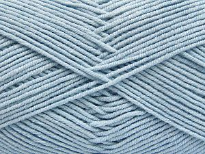 Fiber Content 50% Cotton, 50% Acrylic, Brand Ice Yarns, Baby Blue, Yarn Thickness 2 Fine  Sport, Baby, fnt2-66124