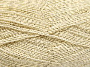 Very thin yarn. It is spinned as two threads. So you will knit as two threads. Yardage information is for only one strand. Fiber Content 100% Acrylic, Brand Ice Yarns, Beige, Yarn Thickness 1 SuperFine  Sock, Fingering, Baby, fnt2-66129
