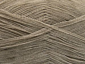Very thin yarn. It is spinned as two threads. So you will knit as two threads. Yardage information is for only one strand. Fiber Content 100% Acrylic, Light Camel, Brand Ice Yarns, Yarn Thickness 1 SuperFine  Sock, Fingering, Baby, fnt2-66131