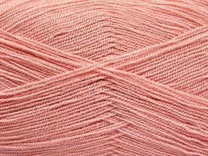 Very thin yarn. It is spinned as two threads. So you will knit as two threads. Yardage information is for only one strand. Fiber Content 100% Acrylic, Powder Pink, Brand Ice Yarns, Yarn Thickness 1 SuperFine  Sock, Fingering, Baby, fnt2-66156