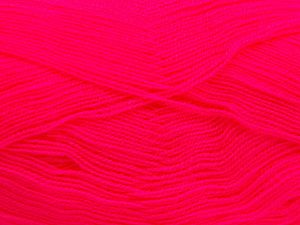 Very thin yarn. It is spinned as two threads. So you will knit as two threads. Yardage information is for only one strand. Fiber Content 100% Acrylic, Neon Pink, Brand Ice Yarns, Yarn Thickness 1 SuperFine  Sock, Fingering, Baby, fnt2-66161