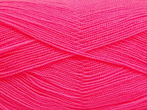 Very thin yarn. It is spinned as two threads. So you will knit as two threads. Yardage information is for only one strand. Fiber Content 100% Acrylic, Pink, Brand Ice Yarns, Yarn Thickness 1 SuperFine  Sock, Fingering, Baby, fnt2-66163