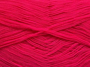 Very thin yarn. It is spinned as two threads. So you will knit as two threads. Yardage information is for only one strand. Fiber Content 100% Acrylic, Brand Ice Yarns, Dark Pink, Yarn Thickness 1 SuperFine  Sock, Fingering, Baby, fnt2-66167