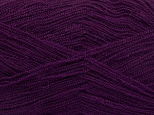 Very thin yarn. It is spinned as two threads. So you will knit as two threads. Yardage information is for only one strand. Fiber Content 100% Acrylic, Purple, Brand Ice Yarns, Yarn Thickness 1 SuperFine  Sock, Fingering, Baby, fnt2-66174