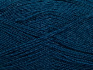 Very thin yarn. It is spinned as two threads. So you will knit as two threads. Yardage information is for only one strand. Fiber Content 100% Acrylic, Brand Ice Yarns, Dark Teal, Yarn Thickness 1 SuperFine  Sock, Fingering, Baby, fnt2-66186
