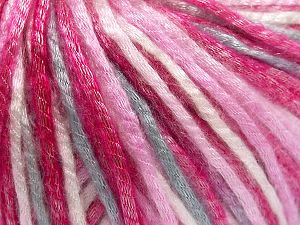 Tencel (Lyocell) is a form of rayon that consists of cellulose fiber made from beech and eucalyptus trees. Main characteristics of lyocell fibers are that they are sustainable, soft, absorbent, very strong when wet or dry, and resistant to wrinkles. Fiber Content 67% Tencel, 33% Polyamide, White, Pink Shades, Light Grey, Brand Ice Yarns, Yarn Thickness 4 Medium  Worsted, Afghan, Aran, fnt2-66212