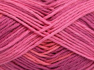 Colors in different lots may vary because of the charateristics of the yarn. Also see the package photos for the colorway in full; as skein photos may not show all colors. Fiber Content 100% Cotton, Pink Shades, Brand Ice Yarns, Yarn Thickness 3 Light  DK, Light, Worsted, fnt2-66256