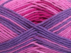 Colors in different lots may vary because of the charateristics of the yarn. Also see the package photos for the colorway in full; as skein photos may not show all colors. Fiber Content 100% Cotton, Purple Shades, Pink Shades, Brand Ice Yarns, Yarn Thickness 3 Light  DK, Light, Worsted, fnt2-66258