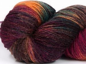 Please note that this is a hand-dyed yarn. Colors in different lots may vary because of the charateristics of the yarn. Also see the package photos for the colorway in full; as skein photos may not show all colors. Fiber Content 75% Super Wash Wool, 25% Polyamide, Turquoise, Salmon, Maroon, Brand Ice Yarns, Fuchsia, Brown, Yarn Thickness 1 SuperFine  Sock, Fingering, Baby, fnt2-66269