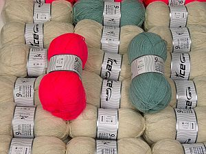 Kristal In this list; you see most recent 50 mixed lots. <br> To see all <a href=&/mixed_lots/o/4#list&>CLICK HERE</a> (Old ones have much better deals)<hr> This mixed lot includes a total of 2000 gr (70.5 oz.) yarn. There is no standard for ball weight. Also disregard any information on the labels. You will get what you see in the photo. Fiber Content 100% Acrylic, Brand Ice Yarns, fnt2-66374