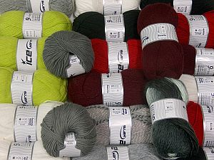 Winter Yarns In this list; you see most recent 50 mixed lots. <br> To see all <a href=&/mixed_lots/o/4#list&>CLICK HERE</a> (Old ones have much better deals)<hr> This mixed lot includes a total of 2000 gr (70.5 oz.) yarn. There is no standard for ball weight. Also disregard any information on the labels. You will get what you see in the photo. Brand Ice Yarns, fnt2-66378